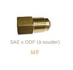 Raccord en laiton Male SAE X Femelle ODF à souder